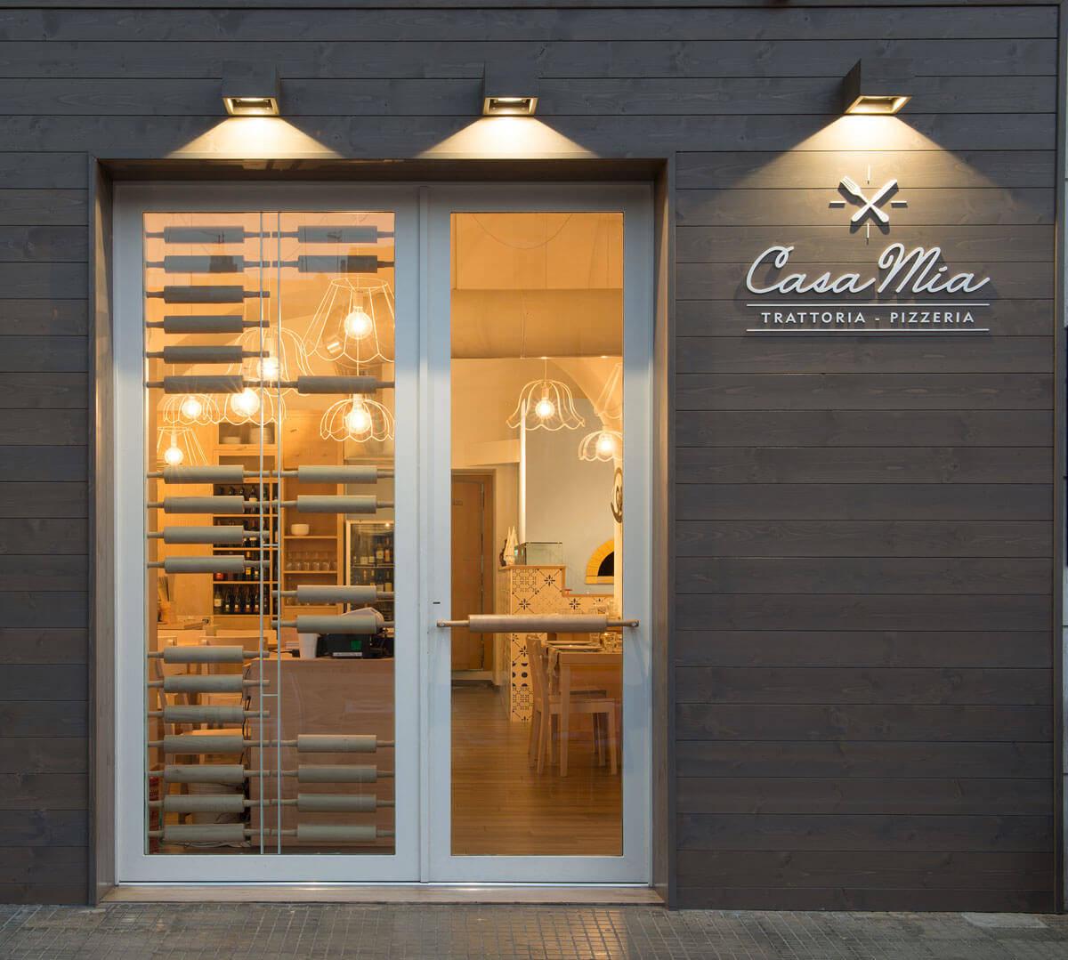 brand identity del ristorante Casa Mia Polignano