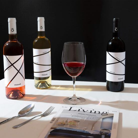 etichette vino per azienda Frisino