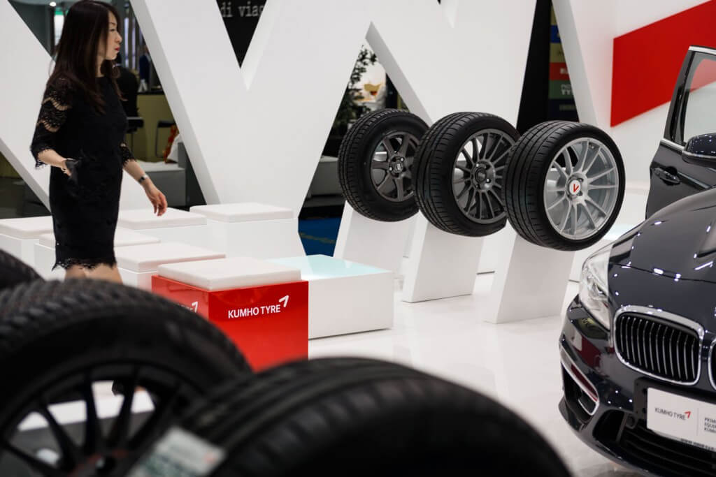 stand fieristico Kumho Tyre