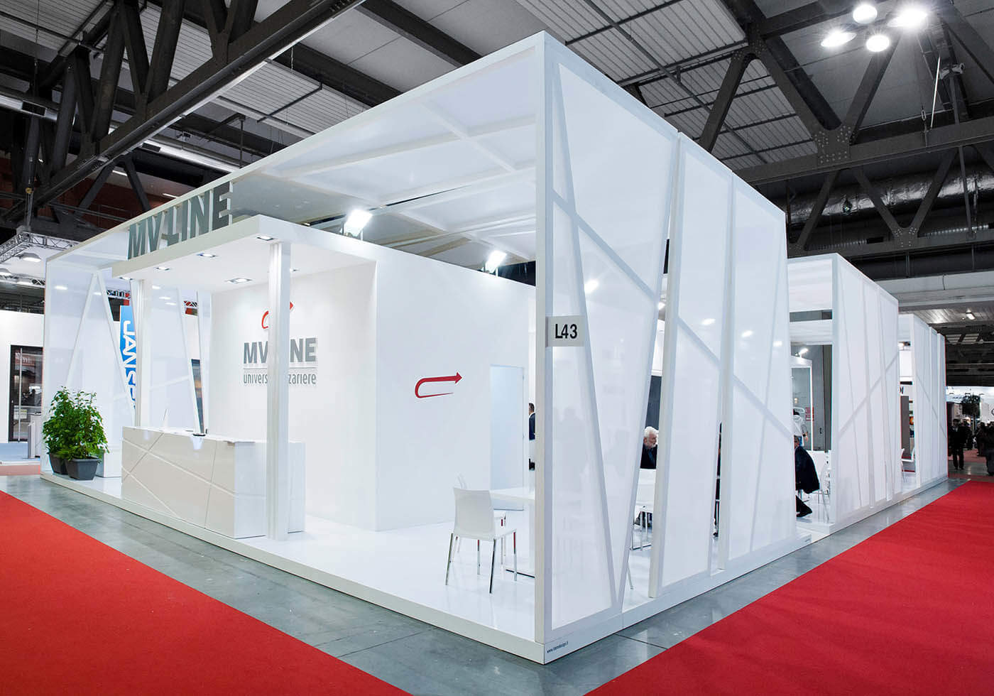 interno dello stand MV Line MADE Expo di Milano