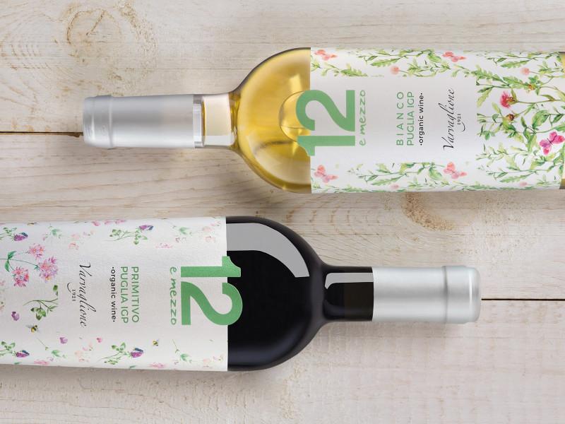 etichette vino bianco e rosso per varvaglione
